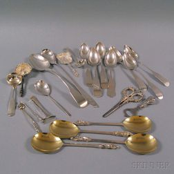 Assorted Group of Sterling and Coin Silver Flatware