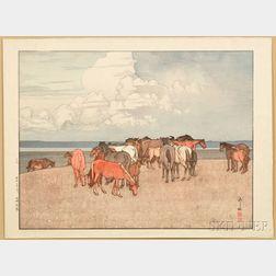 Hiroshi Yoshida (1876-1950), Numazaki Pasture