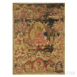 Thangka Depicting Akshobhya Buddha in Abhirati