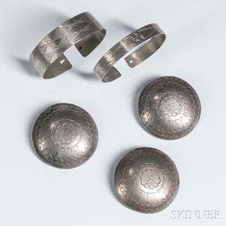 Five Plains German Silver Items