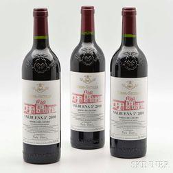 Bodegas Vega Sicilia Valbuena 5 2010, 3 bottles