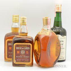 Mixed Scotch, 2 quart bottles 3 4/5 quart bottles