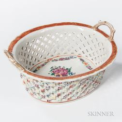 Porcelain Reticulated Fruit Bowl