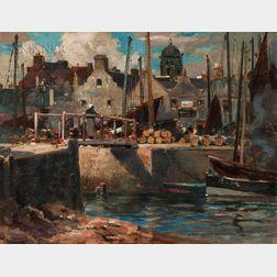 James Whitelaw Hamilton (Scottish, 1860-1932)      The Harbour—Eyemouth