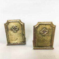 Pair of Roycroft Hand-hammered Bronze Bookends
