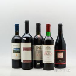 Mixed Tuscan Wines, 5 bottles