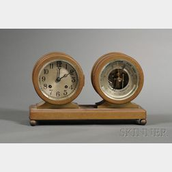 Chelsea Ship's Bell Desk Set Clock and Barometer with Thermometer