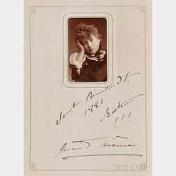 Nineteenth Century Leather bound Autograph Album.