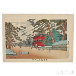 Kobayashi Kiyochika (1847-1915), Shiba Zojoji Temple