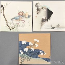 Three Tsukioka Kogyo (1869-1927) Woodblock Prints
