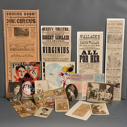 Theatre, Archive of Ephemera, Early 20th Century.