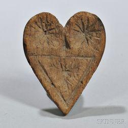 Carved Maple Sugar Stamp