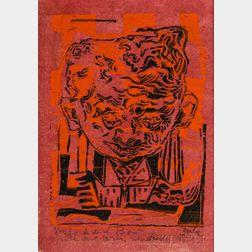 Karl Zerbe (American, 1903-1972)      Portrait Head