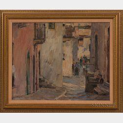 Paul Kutscha (Czech, 1872-1935)      Street Scene