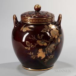 Wedgwood Brown-glazed Potpourri and Covers