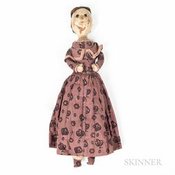 18th Century Doll with Lavender Gown