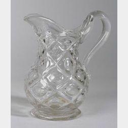 Colorless Pressed Glass Water Jug