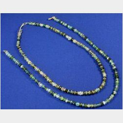 Two Tourmaline Bead Necklaces