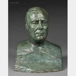 Serge Yourievitch (Russian/French, 1876-1969)      Buste de Franklin D. Roosevelt, Gouverneur de l'État de New York