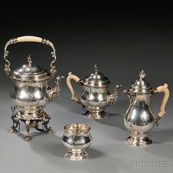 George V Four-piece Sterling Silver Tea and Coffee Service