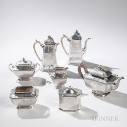 Seven-piece George V Sterling Silver Tea and Coffee Service