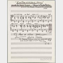 Blake, Eubie (1887-1983) Two Signed Documents.