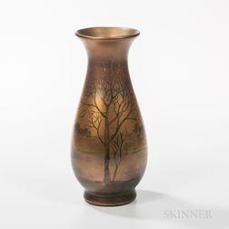 Weller Pottery LaSa Landscape Vase