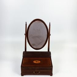 Georgian-style Inlaid Mahogany Dressing and Writing Stand