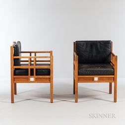 Two Thomas Moser Windward Lounge Chairs