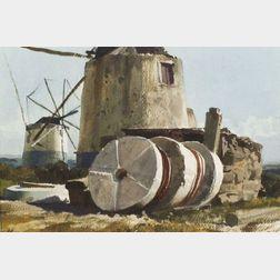 Ogden M. Pleissner (American, 1905-1983)    Study for Millstones