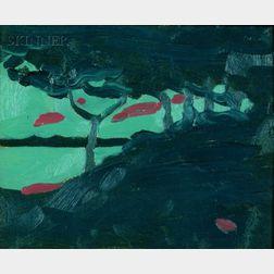 Margaret Jordan Patterson (American, 1867-1950)    Coastal View at Night