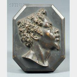 John Quincy Adams Ward (American, 1830-1910)    Bust Plaque of a Man in Profile