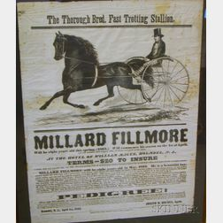 "Framed 1863 ""Millard Fillmore"" Trotter Broadside"
