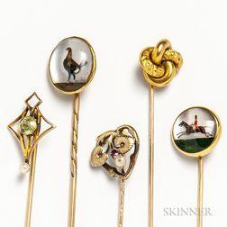 Five Stickpins