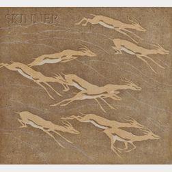 Norbertine Bresslern-Roth (Austrian, 1891-1978)      Leaping Antelope.