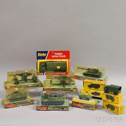Eleven Meccano Dinky Toys Die-cast Metal Military Vehicles
