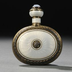 Russian Enameled, Gem-set, and Gilded .916 Silver Perfume