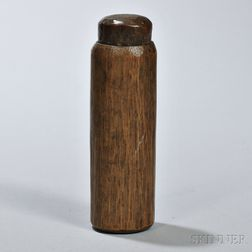 Tubular Wood Container