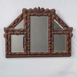 Tramp Art-style Mirror