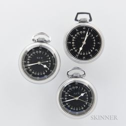 "Two Hamilton ""4992B"" Navigational Watches, and a ""4992B"" Case and Dial"