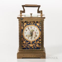 Diminutive Gilt-brass Carriage Clock