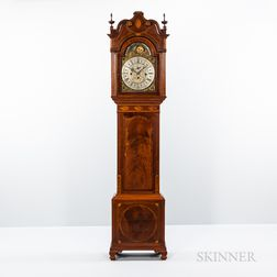 "Elaborately Inlaid Mahogany Quarter-chiming ""Hall"" Clock"
