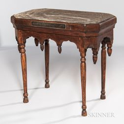 Maple Table with Marble Top
