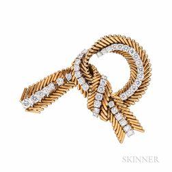 Van Cleef & Arpels 18kt Gold and Diamond Brooch