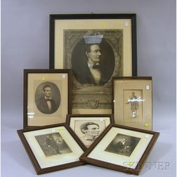 Ten Assorted Framed 20th Century Abraham Lincoln Portrait Prints
