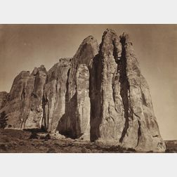 Timothy H. O'Sullivan (American, 1840-1882)      South Side of Inscription Rock, N.M.