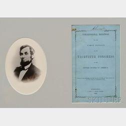 (Lincoln, Abraham (1809-1865)), His Copy