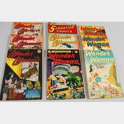 Nine Silver Age Wonder Woman   and Sensation Comics  , No. 66