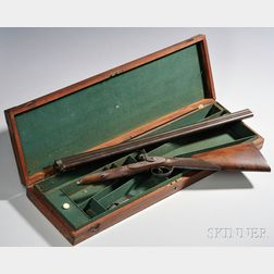 Cased Percussion Side-by-side Shotgun