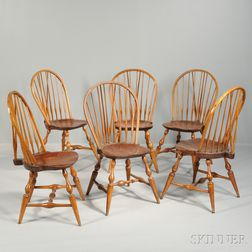 Set of Six Bow-back Windsor Side Chairs,